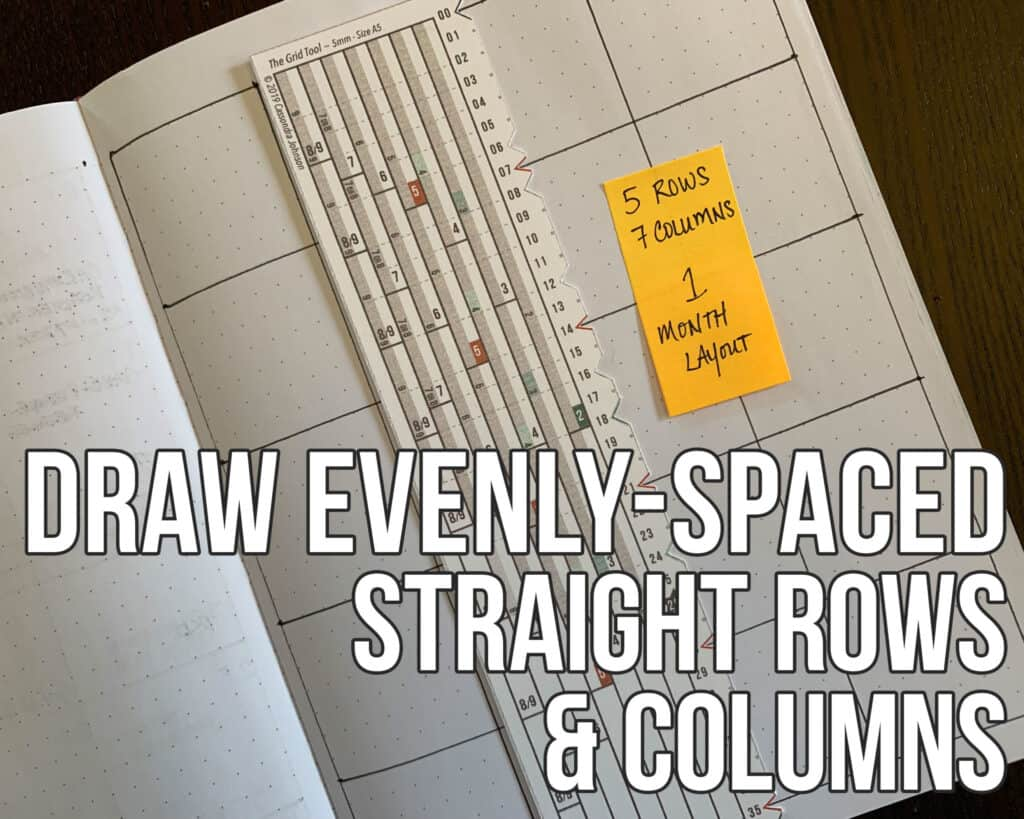 Draw Evenly-Spaced Straight Rows and Columns - Grid Tool on notebook