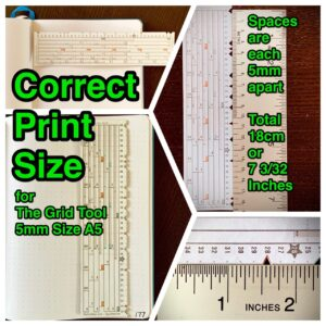 The Grid Tool Correct Print Size