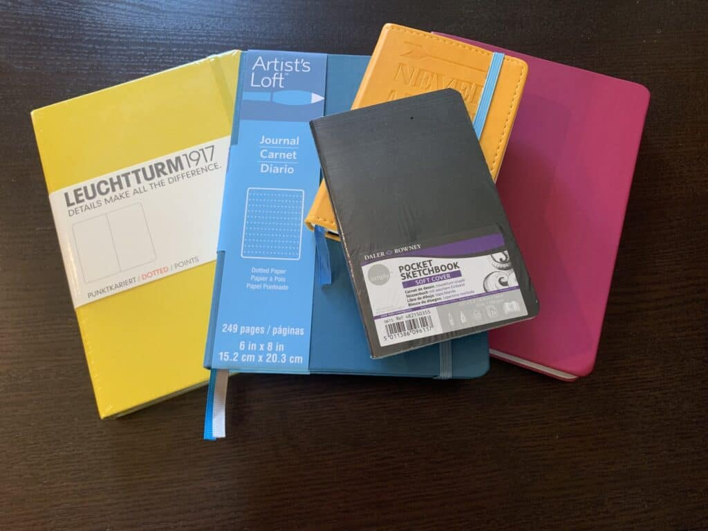 Journals of different sizes